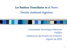 El nuevo derecho ambiental argentino