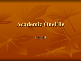 Academic OneFile - Biblioteca CIDE