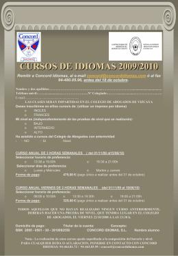 CURSOS DE IDIOMAS 2007/2008