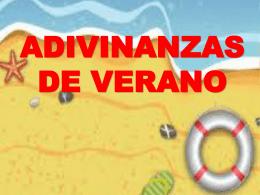 ADIVINANZAS DE VERANO