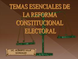 CRONOLOGIA DE LA REFORMA CONSTITICIONAL EN …