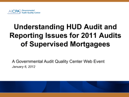 HUD Requirements for Supervised Lenders without notes