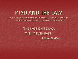 PTSD UPDATE - Stanford University