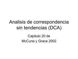 Analisis de correspondencia sin tendencias (DCA)