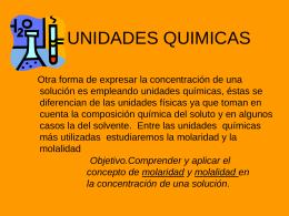 UNIDADES QUIMICAS