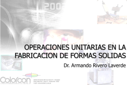 OPERACIONES UNITARIAS EN LA FABRICACION DE …