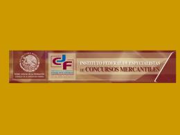 Valores Del Especialista De Concursos Mercantiles