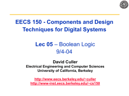 Combinational Logic - EECS Instructional Support Group