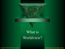 What is Worldview - PowerPoint Presentation