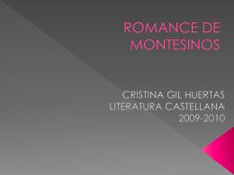 ROMANCE DE MONTESINOS