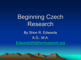 Beginning Czech Research