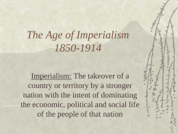 The Age of Imperialism 1850-1914