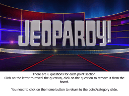 Jeopardy - Hectic Teacher
