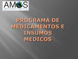 PROGRAMA DE MEDICAMENTOS E INSUMOS MEDICOS.