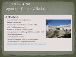 CEIP LA LAGUNA Laguna de Duero (Valladolid)