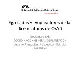 Egresados y empleadores de las licenciaturas de CyAD