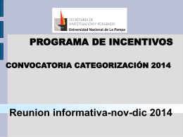 Diapositiva 1 - Universidad Nacional de La Pampa