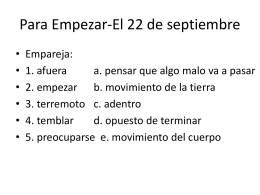 Para Empezar-El 22 de septiembre