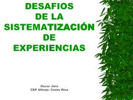 DESAFIOS DA SISTEMATIZACAO DE EXPERIENCIAS MOVA …