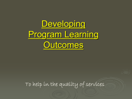Student Learning Outcomes - Los Angeles Mission College