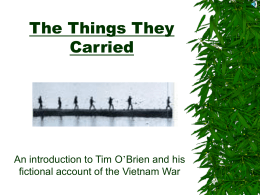 The Things They Carried by Tim O'Brien - trailblazers