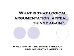 What is that logical, argumentation, appeal thingy again?