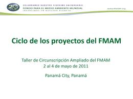 Ciclo de los proyectos del FMAM