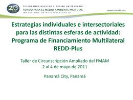 Estrategias individuales e intersectoriales para las
