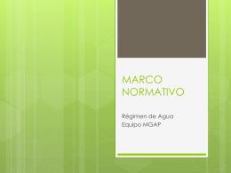 MARCO NORMATIVO - MGAP