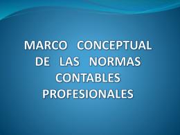 MARCO CONCEPTUAL DE LAS NORMAS CONTABLES …