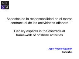 Aspectos de la responsabilidad en el marco contractual de