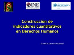 POBLACION Y DESARROLLO - Instituto Nacional de