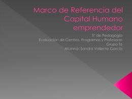 Marco de Referencia del Capital Humano emprendedor