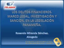 LOS DELITOS FINANCIEROS. MARCO LEGAL, …