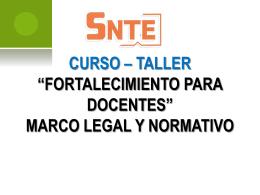 CURSO TALLER DE FORTALECIMIENTO PARA DOCENTES
