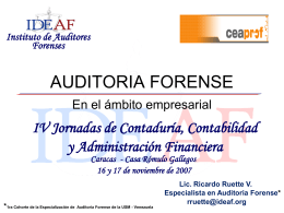 Diapositiva 1 - IDEAF - Instituto de Auditores Forenses