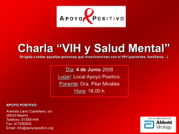 "Charla ""VIH y Salud Mental"""