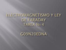 ELECTROMAGNETISMO Y LEY DE FARADAY TAREA No 4