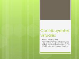Contribuyentes virtuales