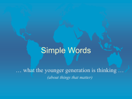 Simple Words Presentation - friends