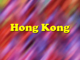 Hong Kong Facts - AG Web Services