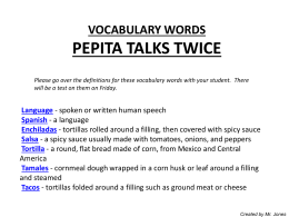VOCABULARY WORDS-PEPITA TALKS TWICE