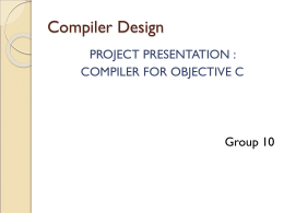 Compiler Design - Department of Computer Science and