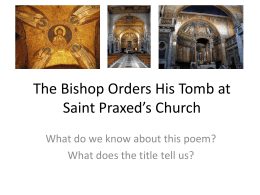 The Bishop Orders His Tomb at Saint Praxed's Church