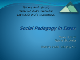 Implementing Social Pedagogy in Residential Child Care