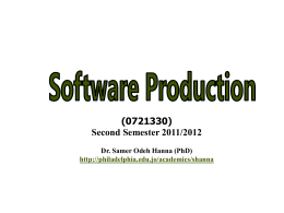 Lecture for Chapter 15, Software Life Cycle