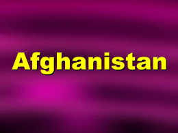 Overview of Afghanistan