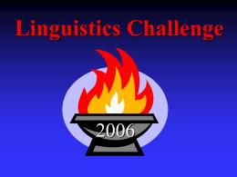 Linguistic Olympics