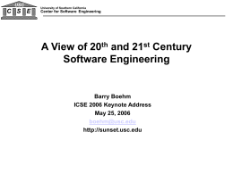 The Future of Systems Engineering and Software Processes