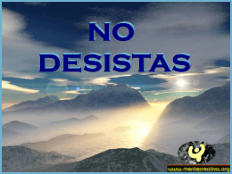No desista